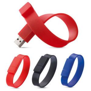 Clé usb bracelet personnalisée en silicone